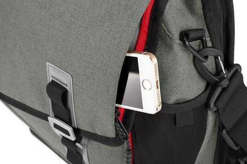 Cellphone In Timbuk2 Command Laptop Messenger Bag
