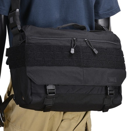 Wearing 5.11 Tactical Rush Delivery Messenger Bag