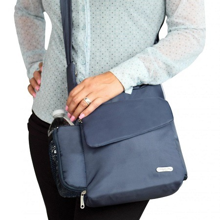 Holding Travelon Anti-Theft Classic Messenger Bag